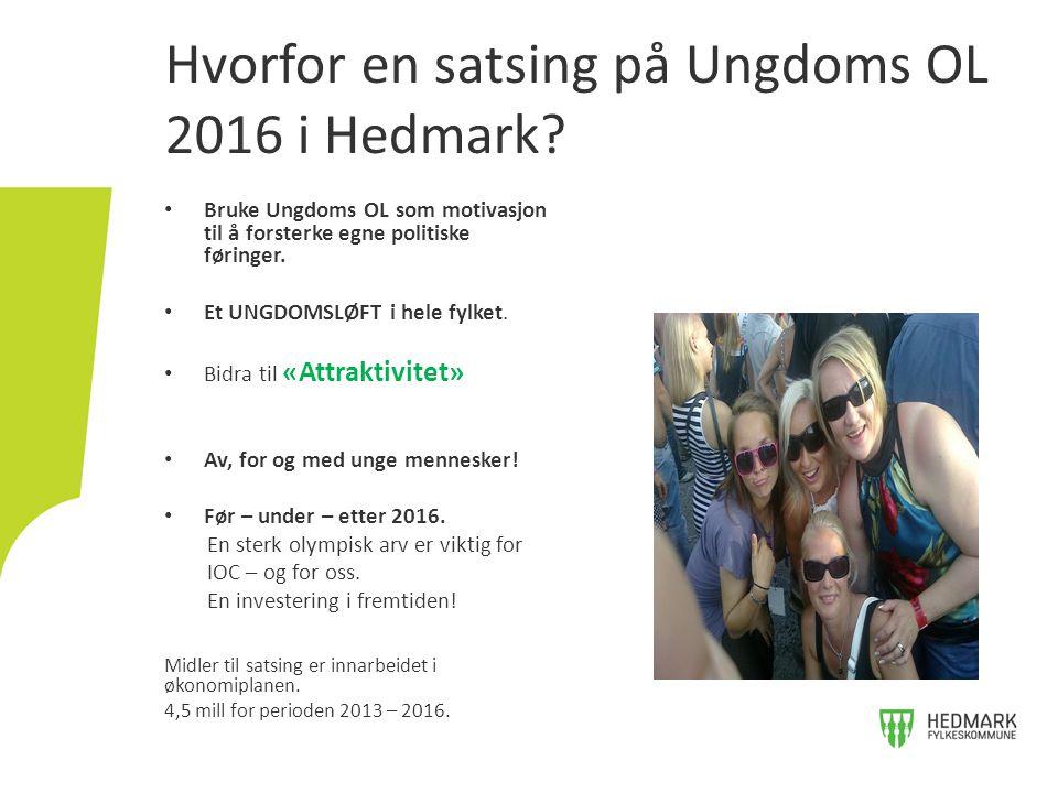 Hvorfor en satsing på Ungdoms OL 2016 i Hedmark