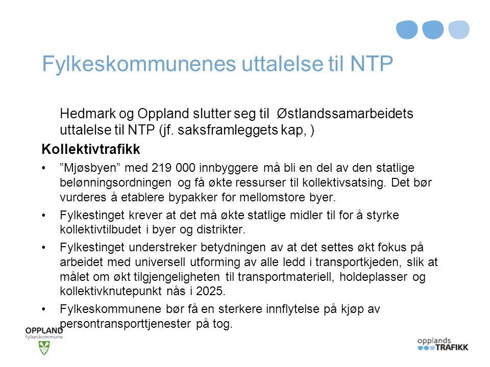 Fylkeskommunenes uttalelse til NTP