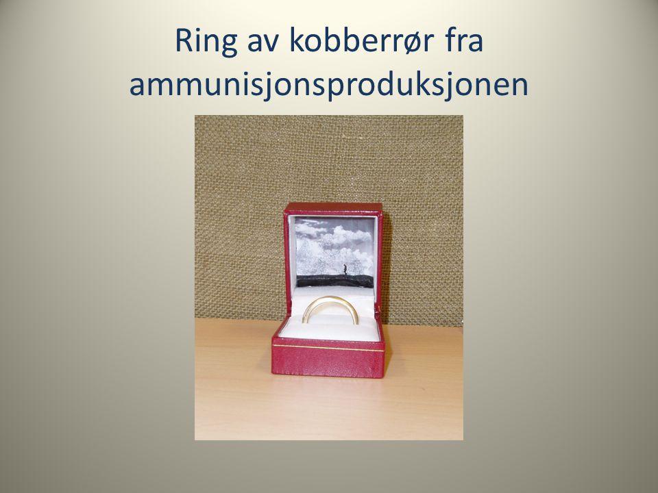 Ring av kobberrør fra ammunisjonsproduksjonen