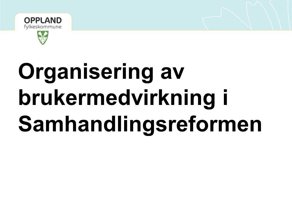 Organisering av brukermedvirkning i Samhandlingsreformen