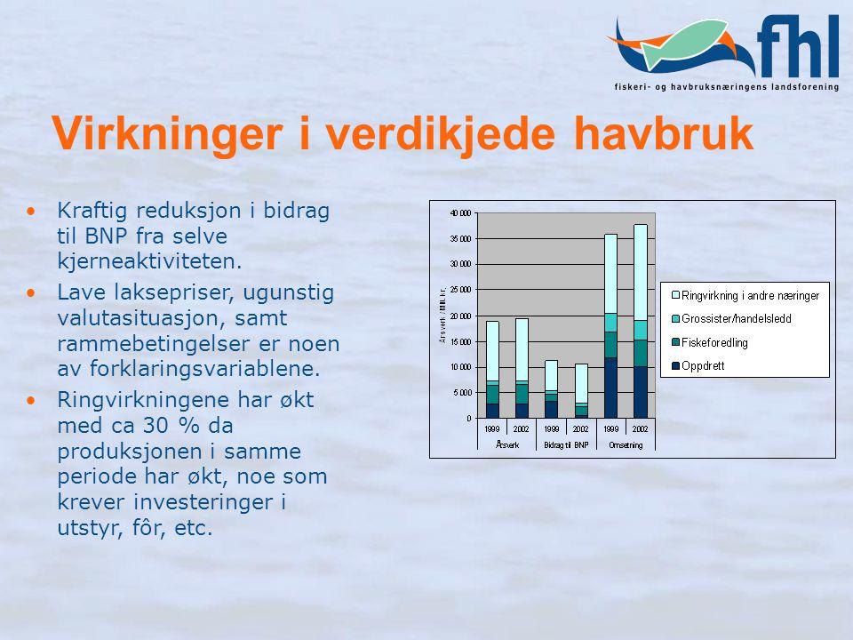 Virkninger i verdikjede havbruk