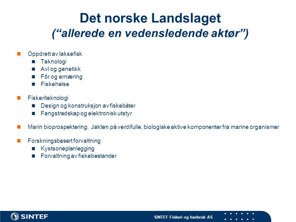 Det norske Landslaget ( allerede en vedensledende aktør )