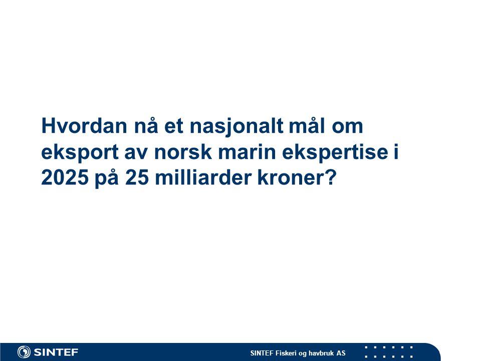 Hvordan nå et nasjonalt mål om eksport av norsk marin ekspertise i 2025 på 25 milliarder kroner