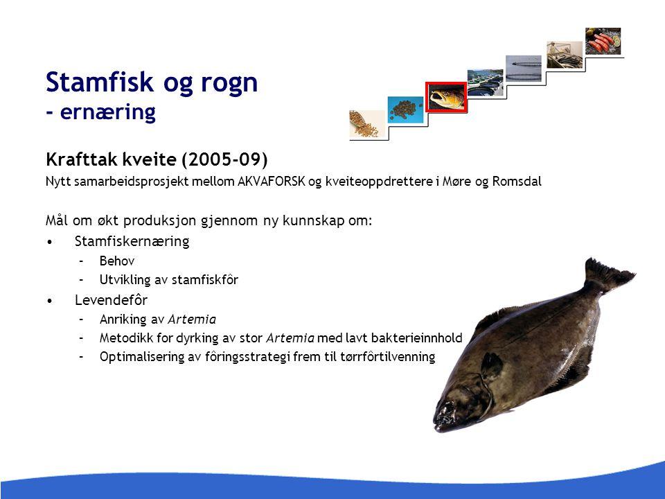 Stamfisk og rogn - ernæring