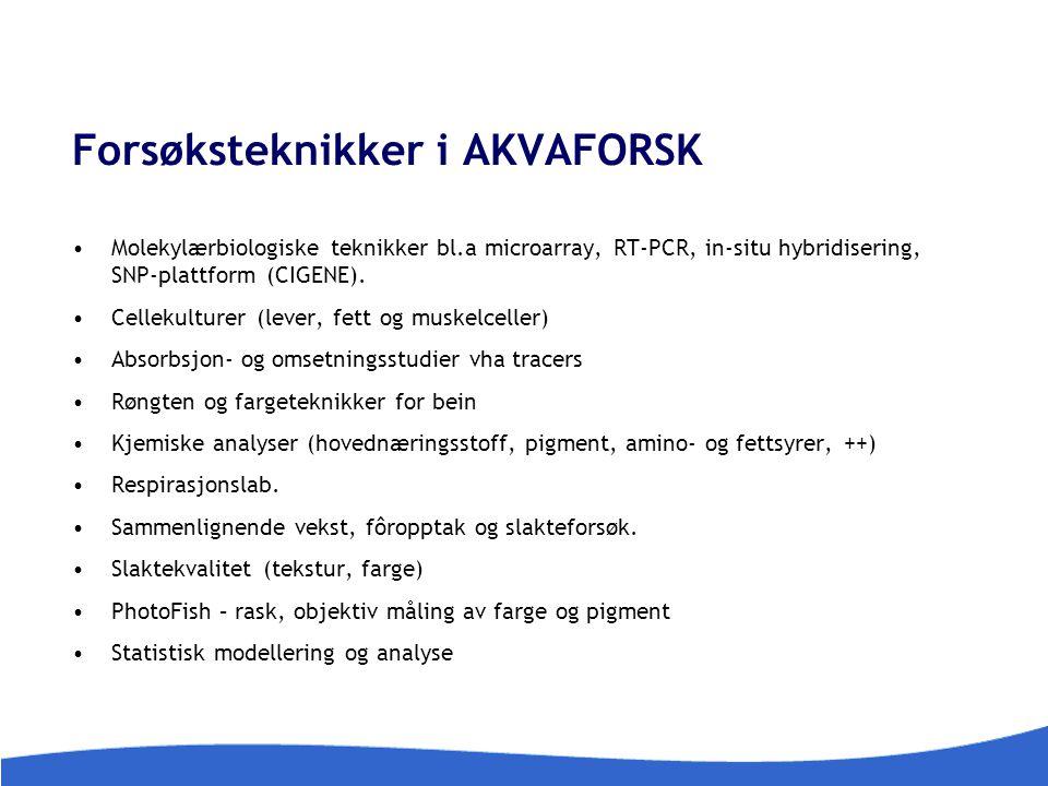 Forsøksteknikker i AKVAFORSK