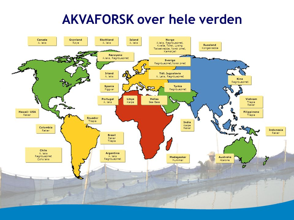AKVAFORSK over hele verden