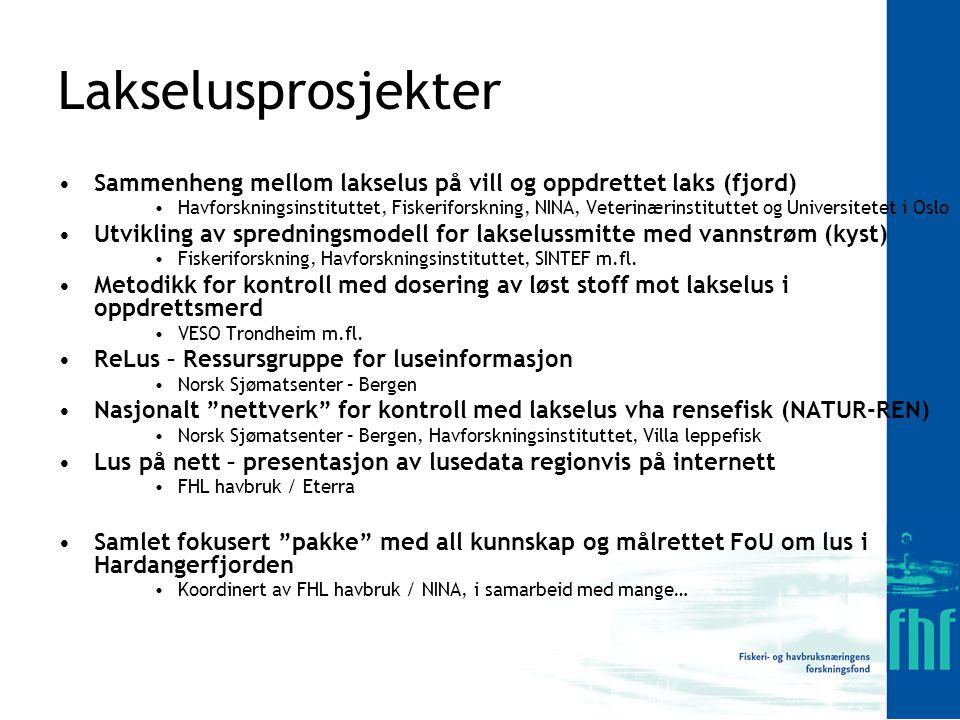 Lakselusprosjekter Sammenheng mellom lakselus på vill og oppdrettet laks (fjord)