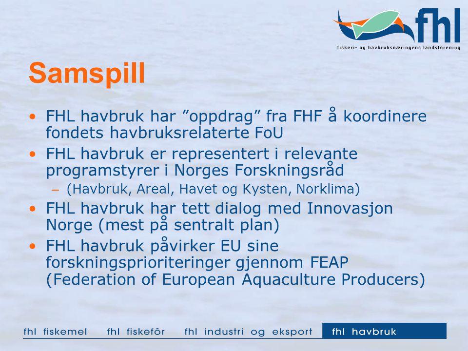 Samspill FHL havbruk har oppdrag fra FHF å koordinere fondets havbruksrelaterte FoU.
