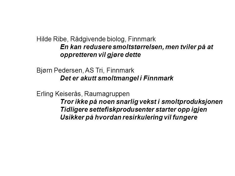 Hilde Ribe, Rådgivende biolog, Finnmark