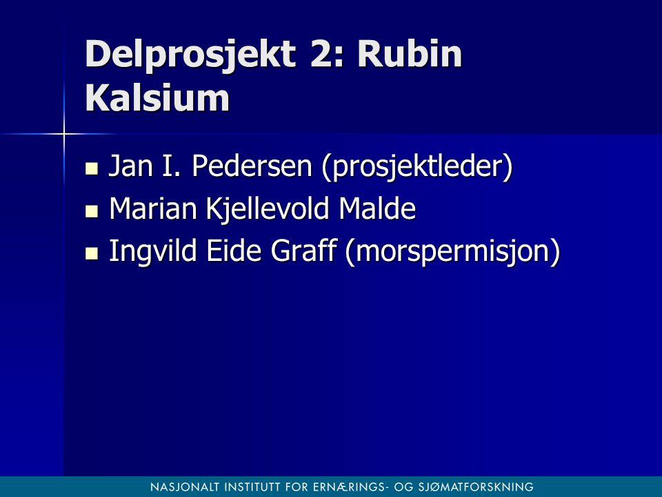 Delprosjekt 2: Rubin Kalsium