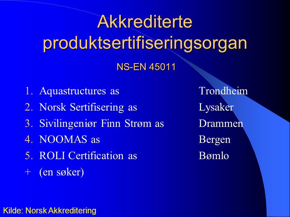 Akkrediterte produktsertifiseringsorgan NS-EN 45011