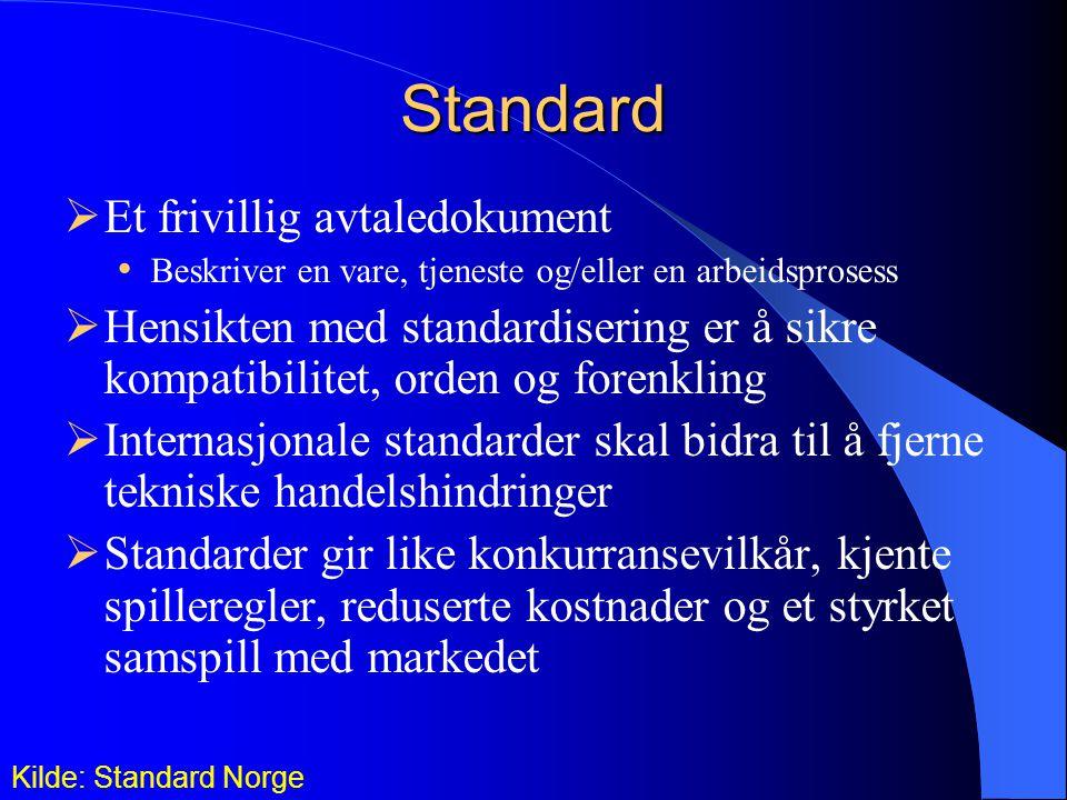 Standard Et frivillig avtaledokument