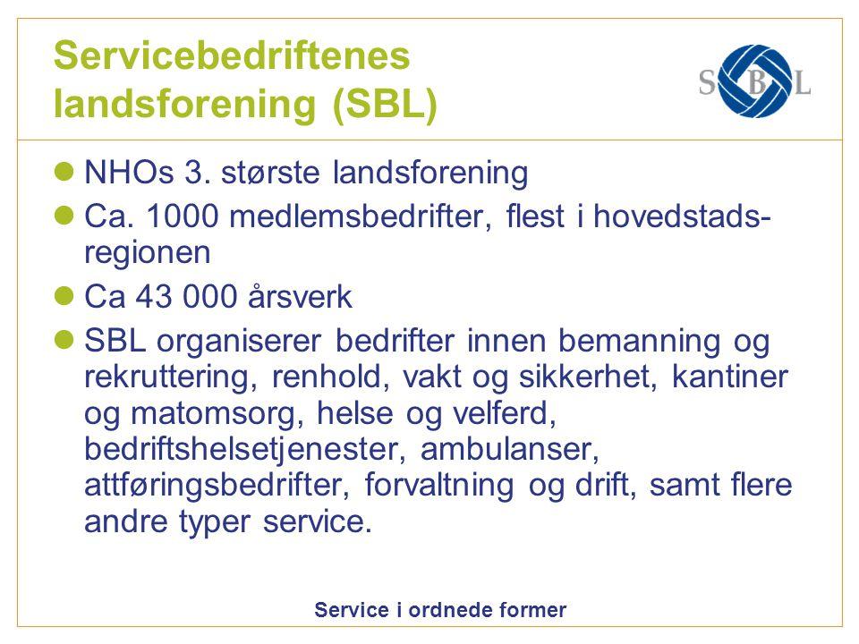 Servicebedriftenes landsforening (SBL)