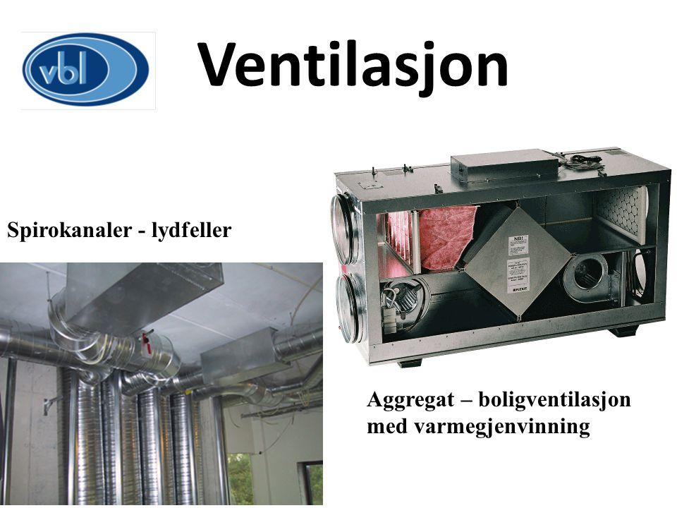 Ventilasjon Spirokanaler - lydfeller