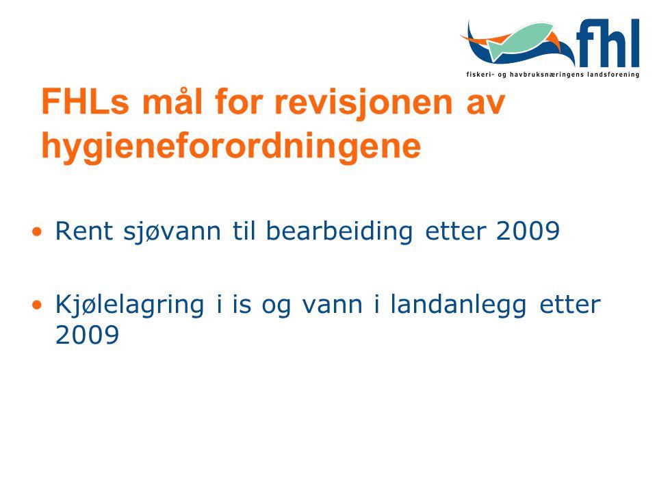 FHLs mål for revisjonen av hygieneforordningene