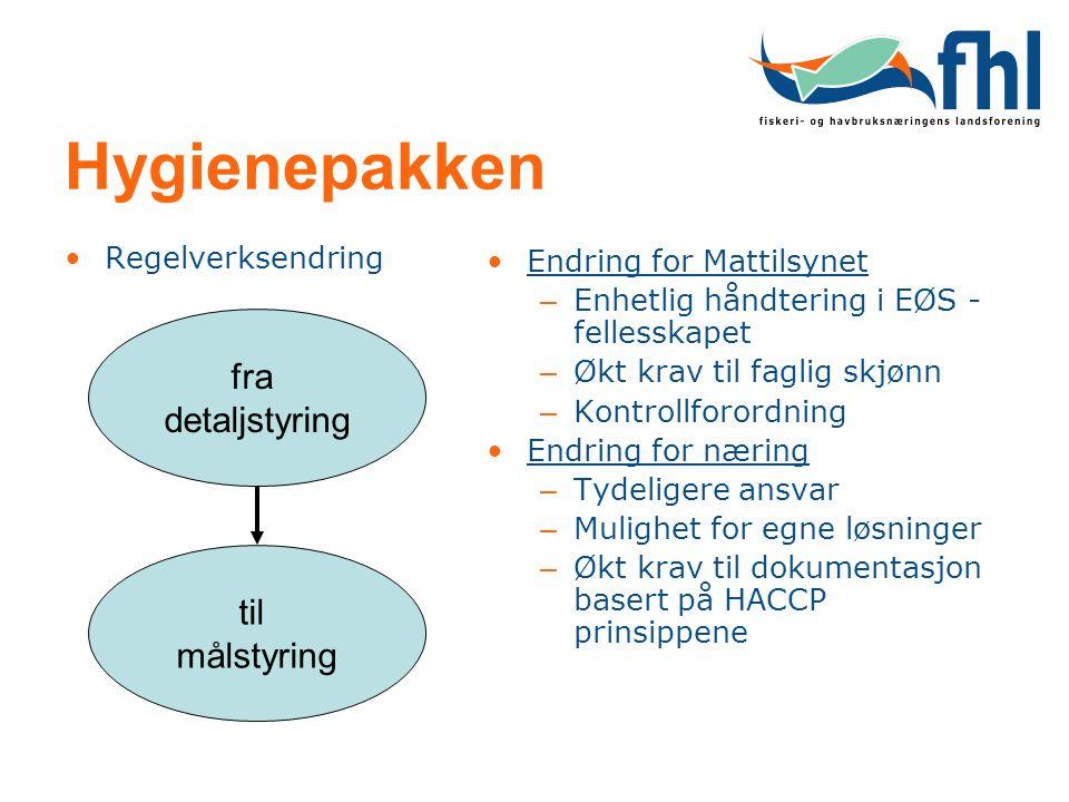 Hygienepakken fra detaljstyring til målstyring Regelverksendring