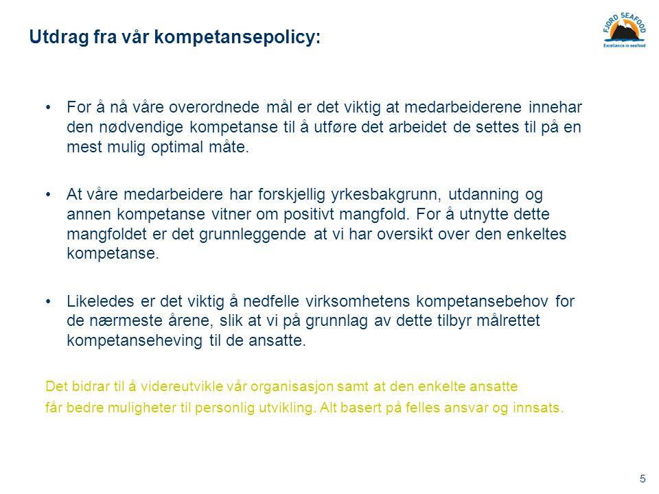 Utdrag fra vår kompetansepolicy: