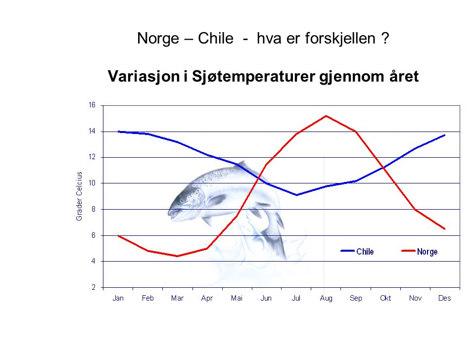 Norge – Chile - hva er forskjellen