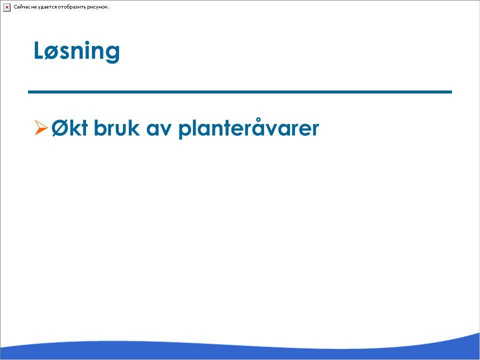 Løsning Økt bruk av planteråvarer