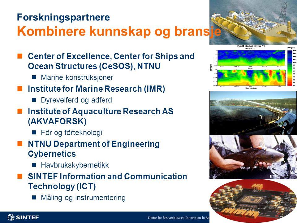Forskningspartnere Kombinere kunnskap og bransje