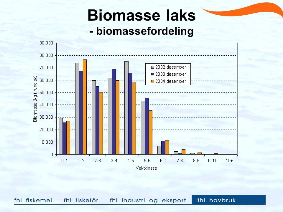 Biomasse laks - biomassefordeling