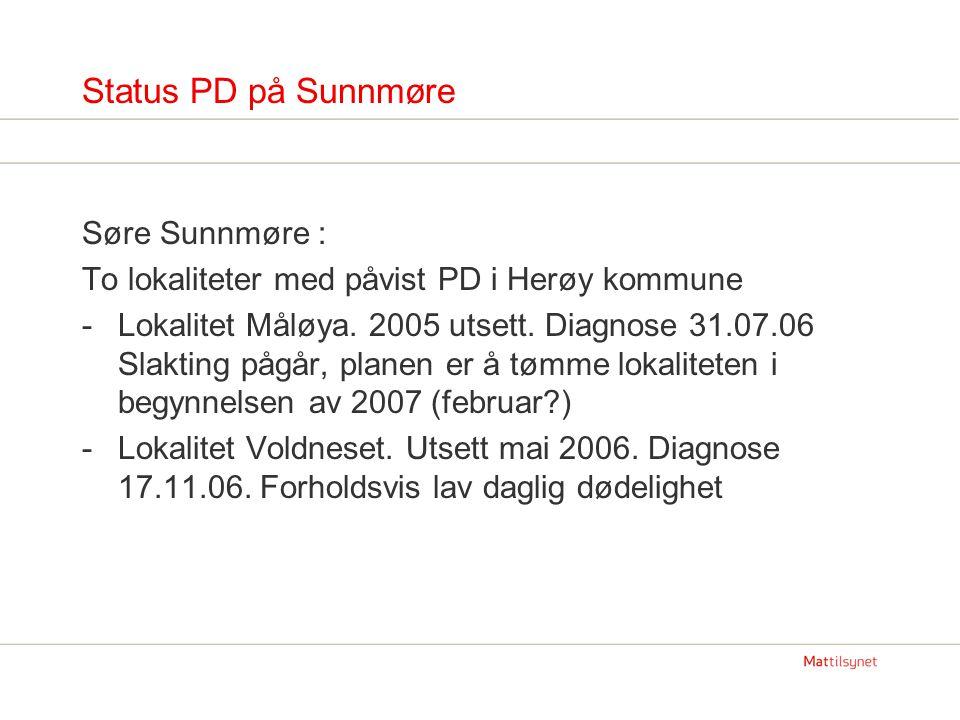 Status PD på Sunnmøre Søre Sunnmøre :