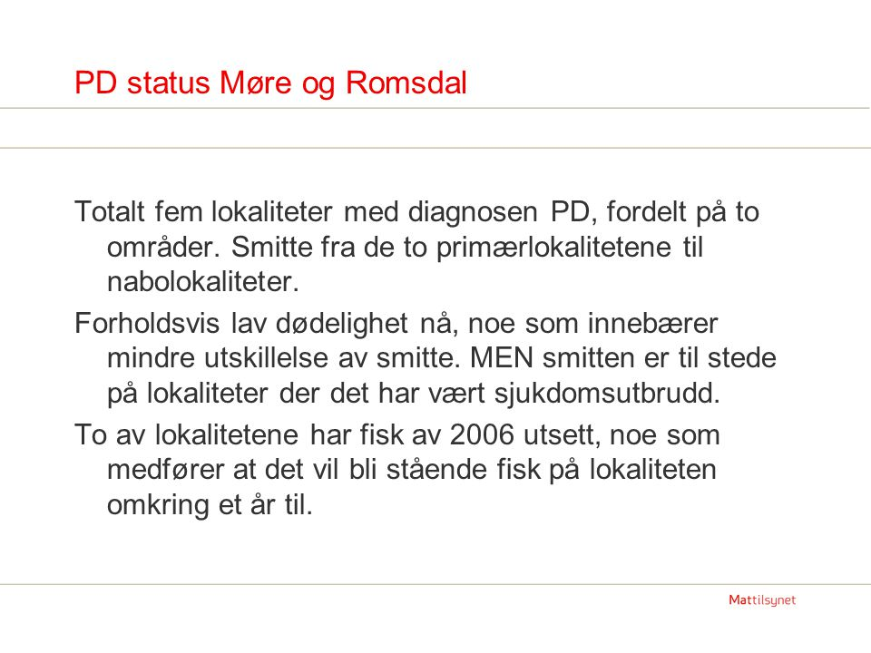 PD status Møre og Romsdal
