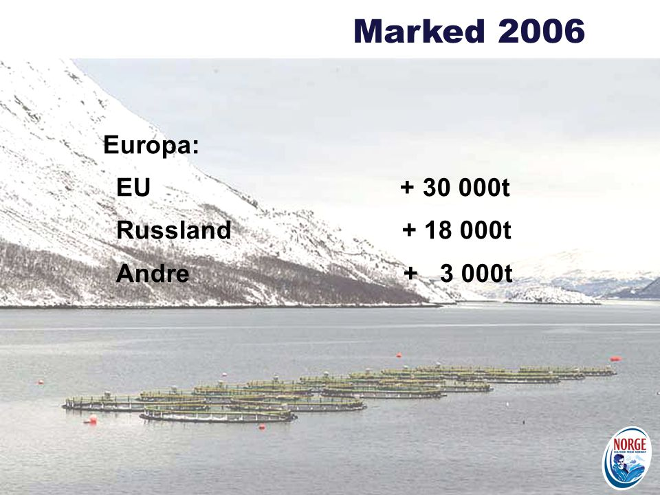 Marked 2006 Europa: EU + 30 000t. Russland + 18 000t.