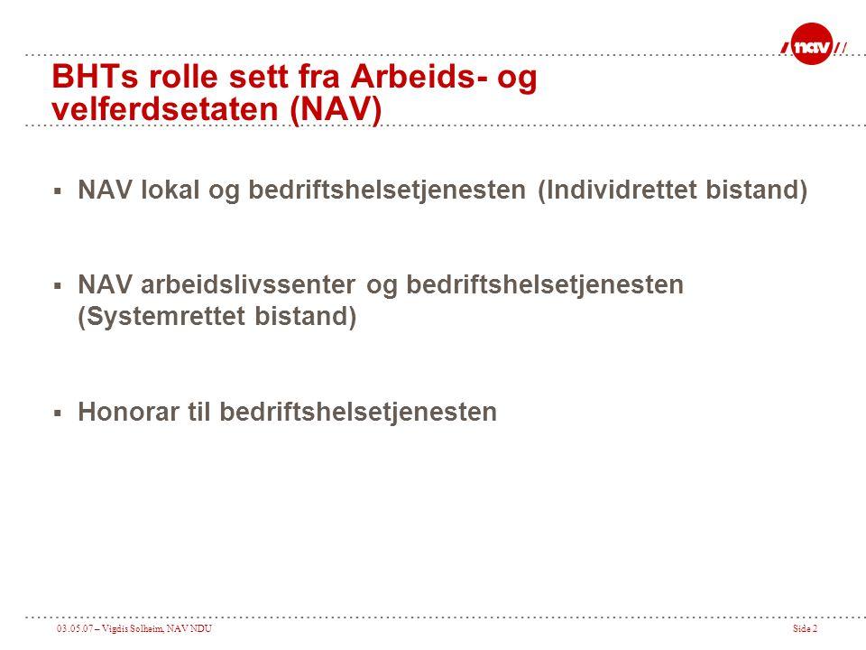 BHTs rolle sett fra Arbeids- og velferdsetaten (NAV)