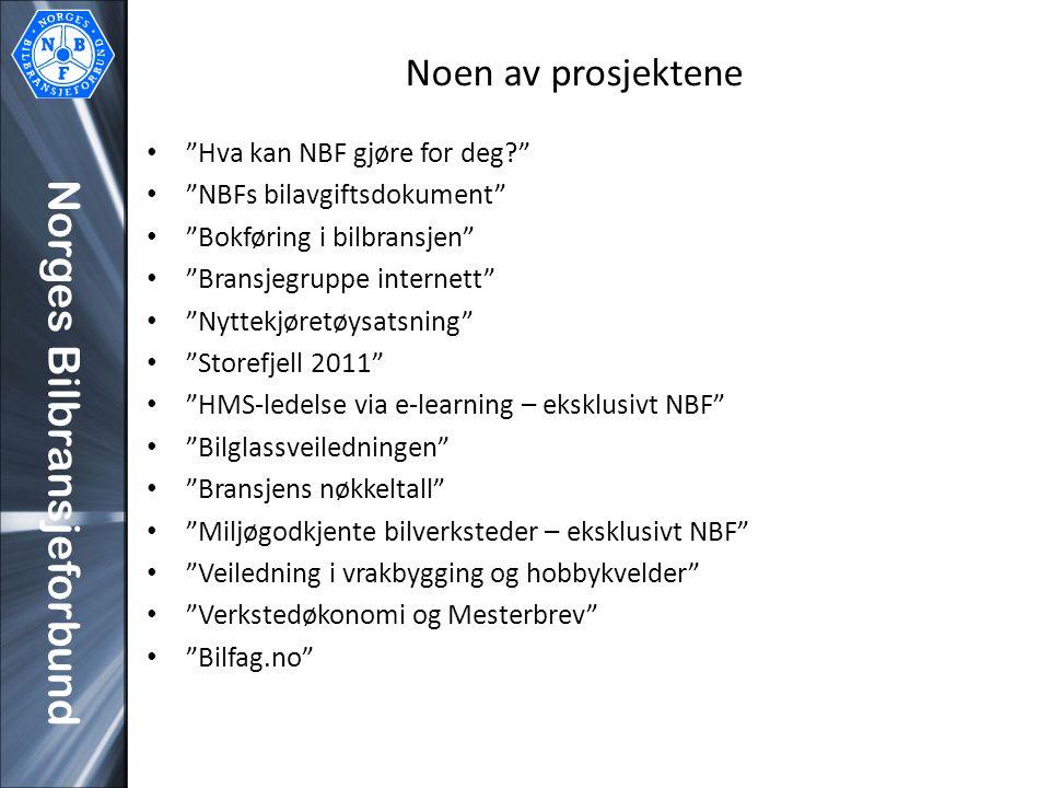 Noen av prosjektene Hva kan NBF gjøre for deg