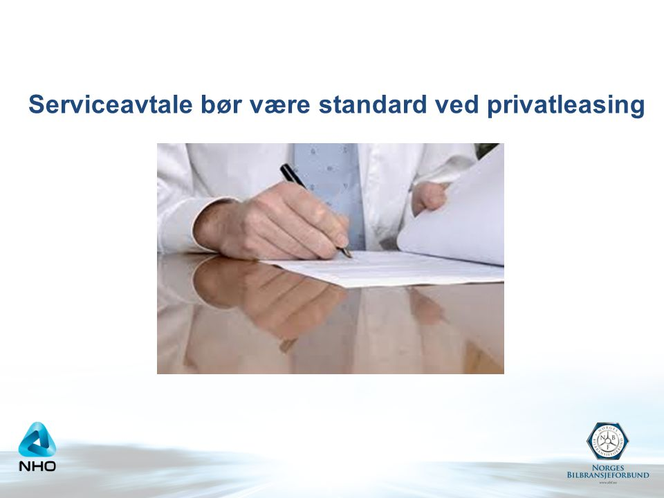 Serviceavtale bør være standard ved privatleasing