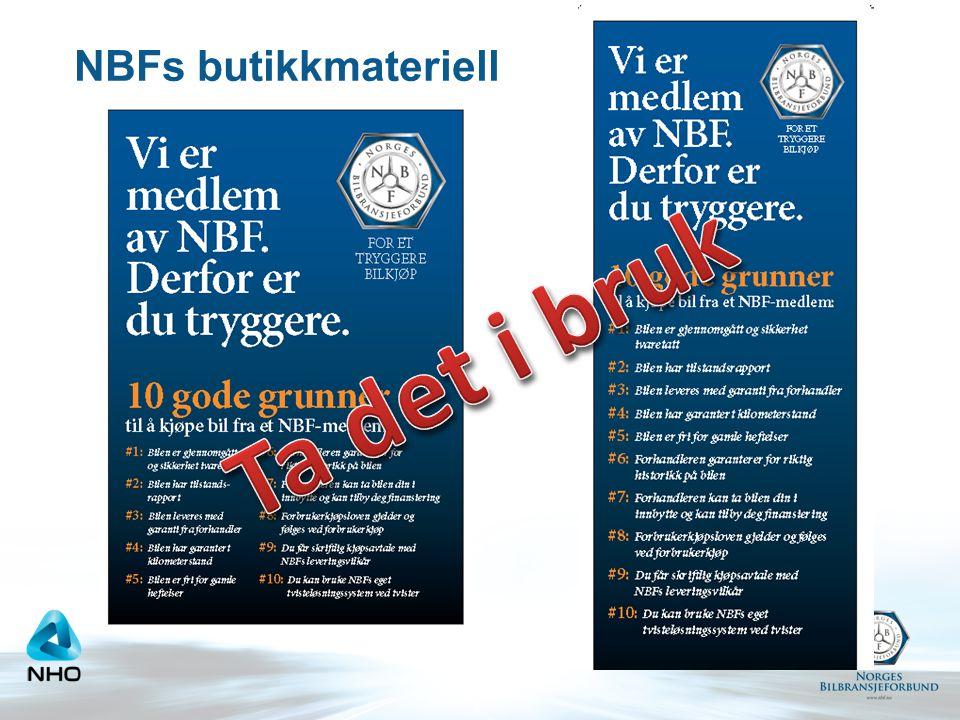 NBFs butikkmateriell Ta det i bruk