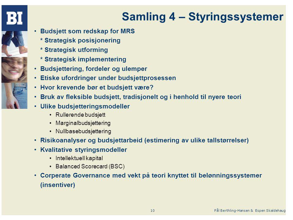 Samling 4 – Styringssystemer