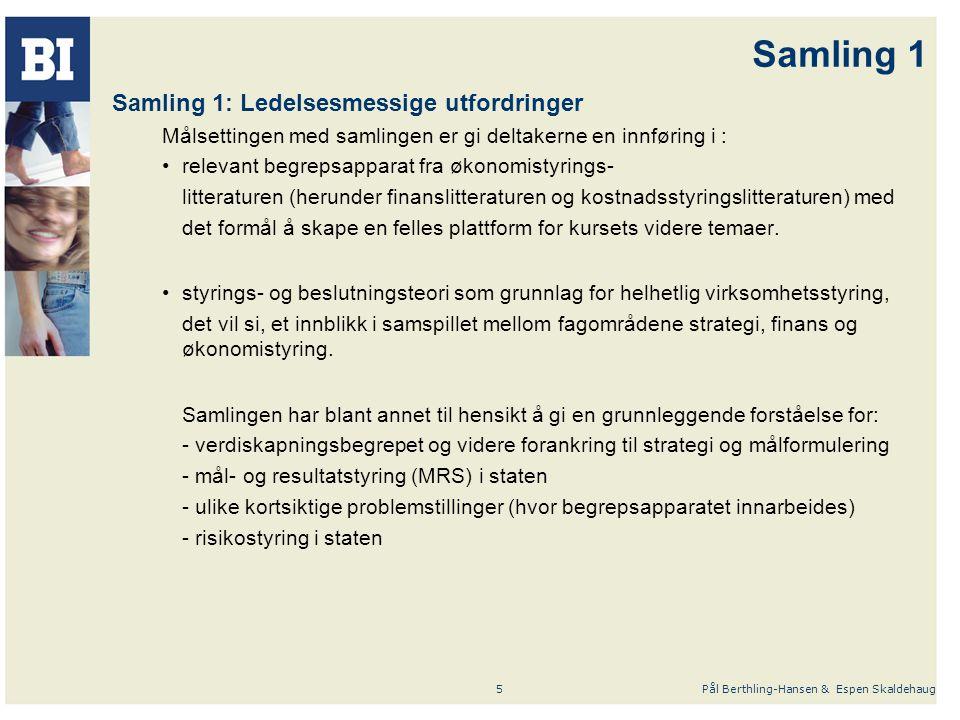 Samling 1 Samling 1: Ledelsesmessige utfordringer
