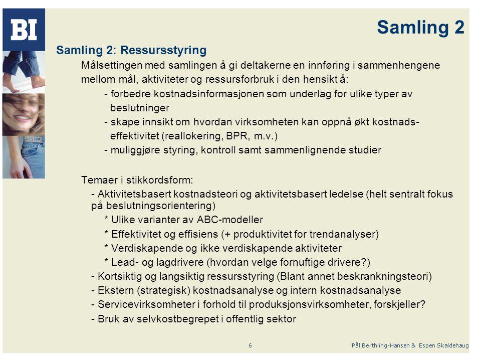 Samling 2 Samling 2: Ressursstyring