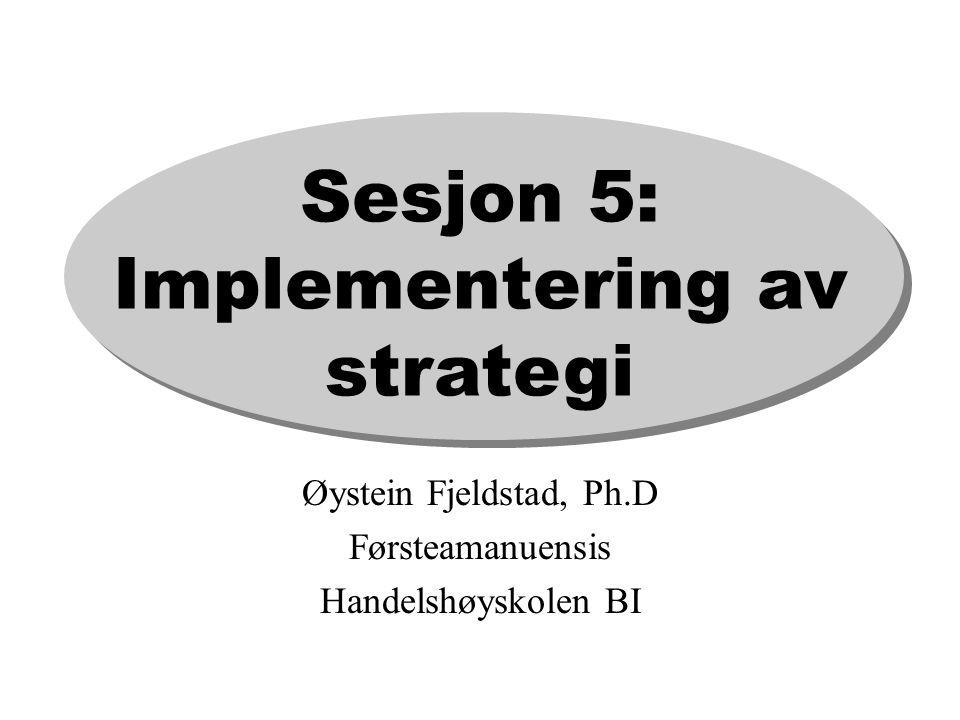 Sesjon 5: Implementering av strategi