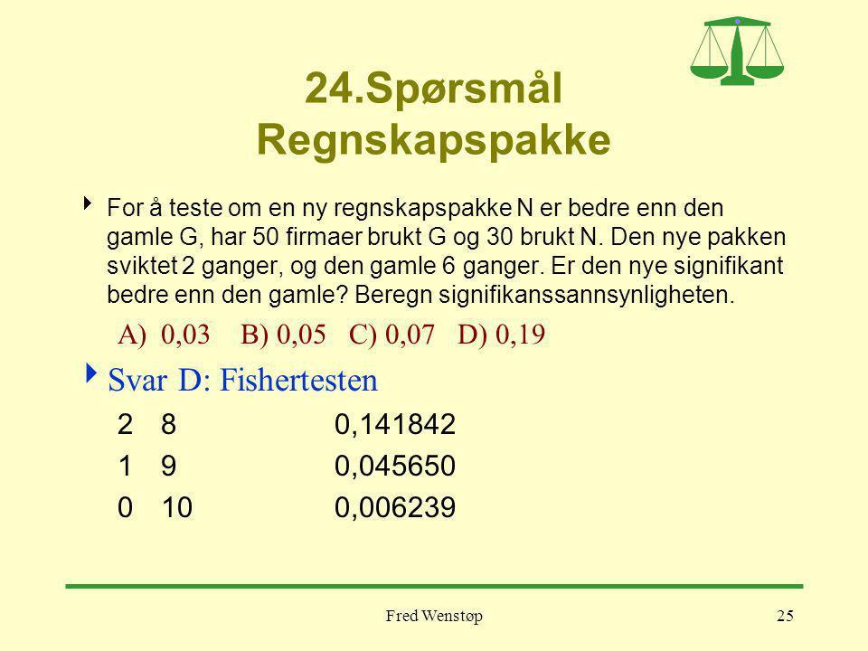 24.Spørsmål Regnskapspakke