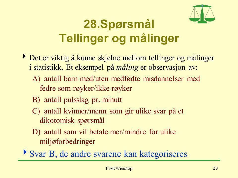 28.Spørsmål Tellinger og målinger