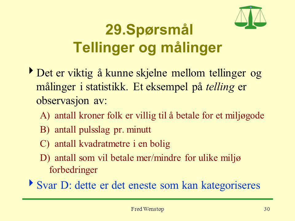 29.Spørsmål Tellinger og målinger