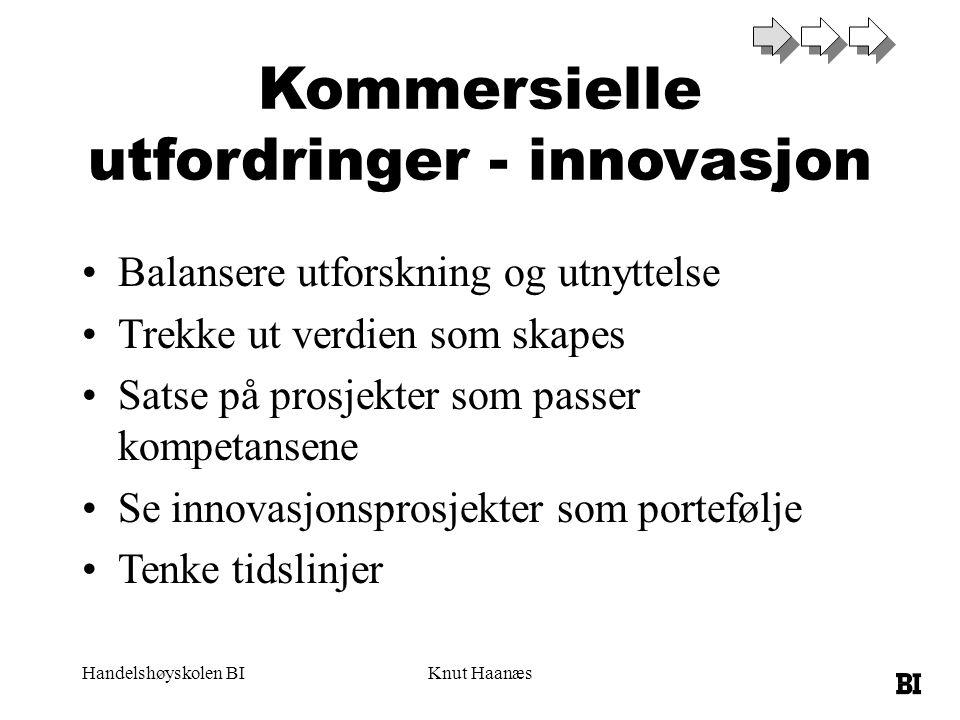 Kommersielle utfordringer - innovasjon