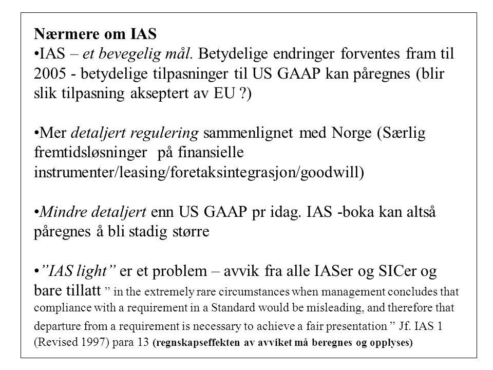 Nærmere om IAS
