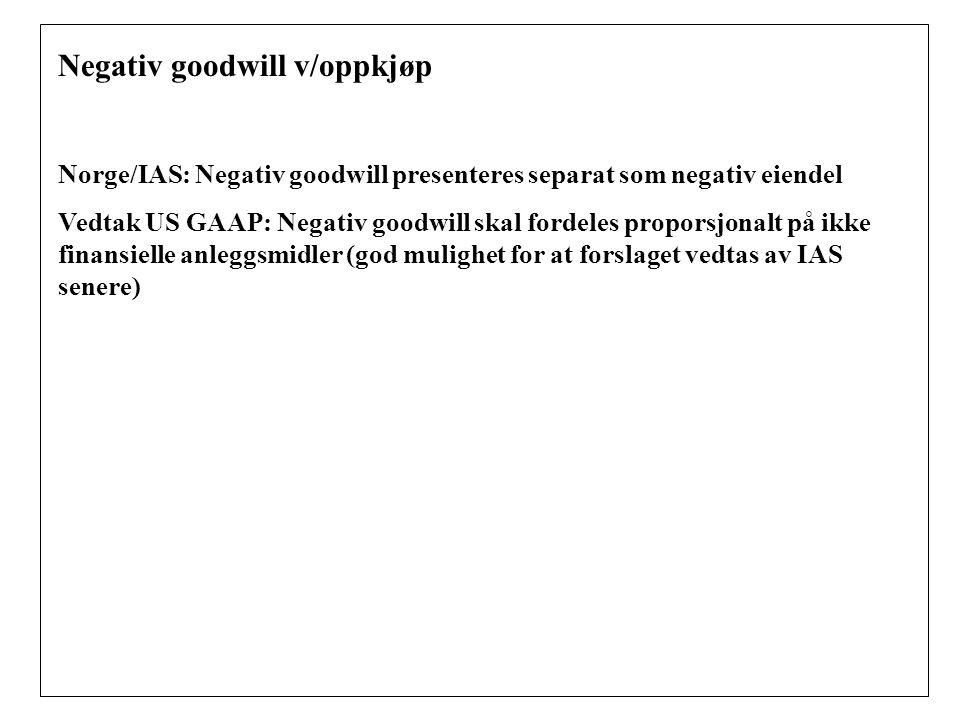 Negativ goodwill v/oppkjøp