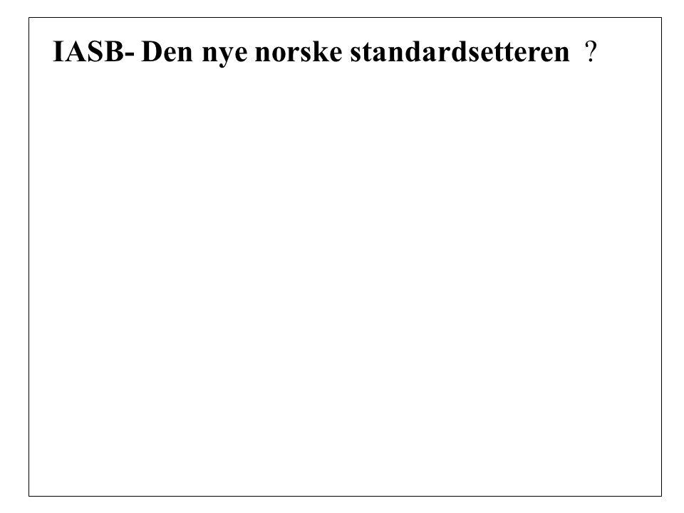 IASB- Den nye norske standardsetteren