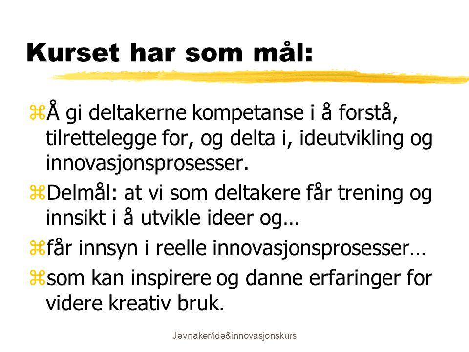 Jevnaker/ide&innovasjonskurs