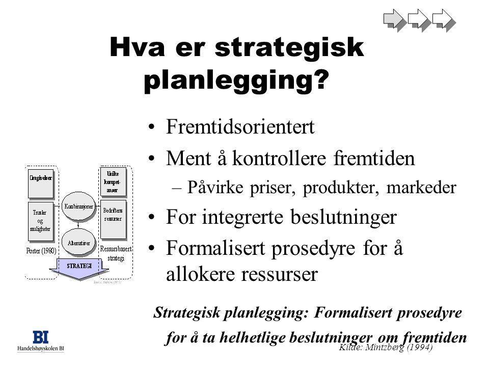 Hva er strategisk planlegging