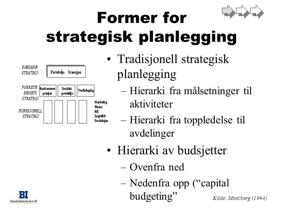 Former for strategisk planlegging
