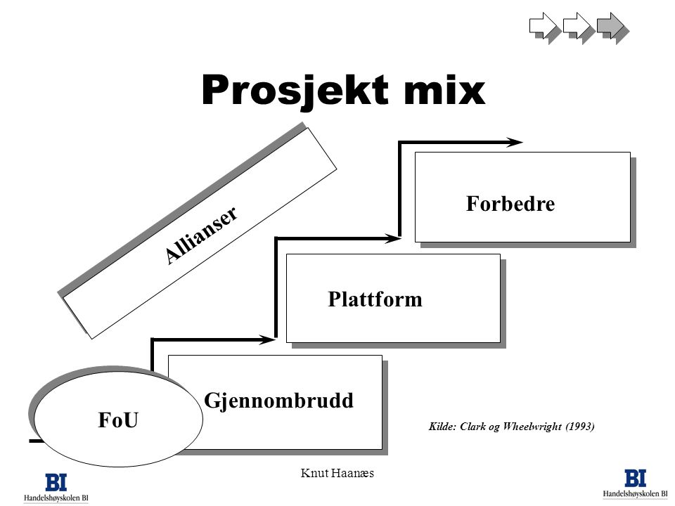 Prosjekt mix Forbedre Allianser Plattform Gjennombrudd FoU Knut Haanæs