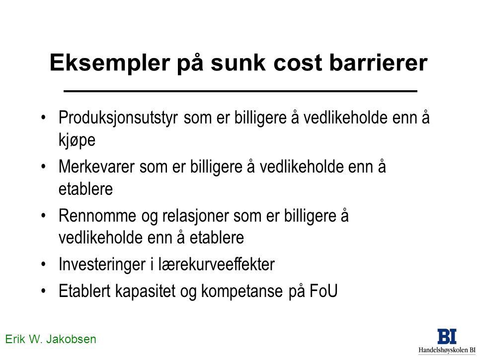 Eksempler på sunk cost barrierer