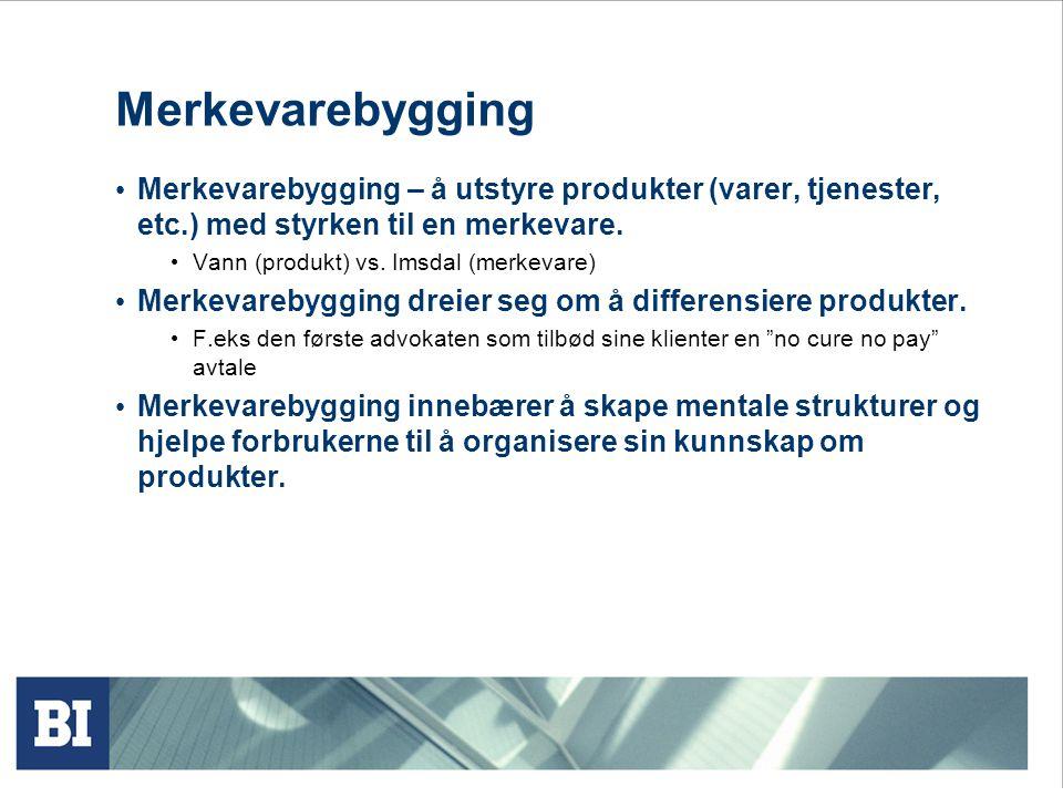 Merkevarebygging Merkevarebygging – å utstyre produkter (varer, tjenester, etc.) med styrken til en merkevare.