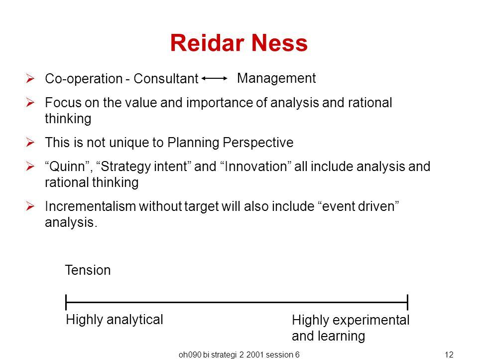 Reidar Ness Co-operation - Consultant Management